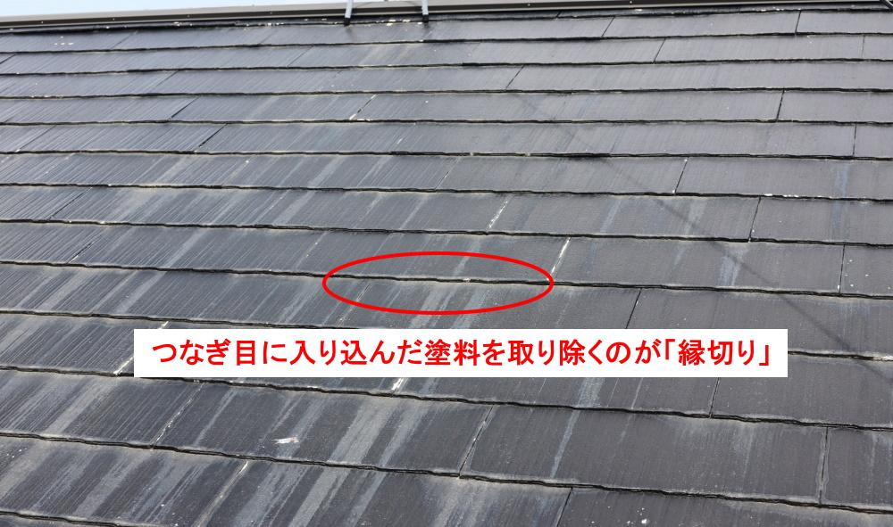 屋根塗装の縁切り
